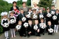 В рамках акции «Подари ребёнку футбольный мяч!» всем первоклассникам сельских школ Горецкого района были сделаны подарки