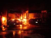 Два автобуса сгорели в Могилеве