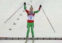 Дарья Домрачева стала трехкратной олимпийской чемпионкой