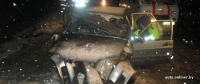 Горецкий район: после столкновения ВАЗа со столбом понадобилась помощь спасателей
